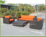 Софа самомоднейшей мебели ротанга гостиницы синтетическая напольная Wicker (4302)