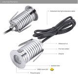 iluminación impermeable LED de 3W IP67 de la luz al aire libre del punto de la CA 110V 220V