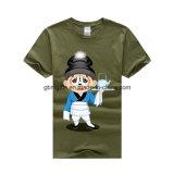 Coutume 100% bon marché de T-shirt d'impression de coton d'OEM votre propre T-shirt de charme
