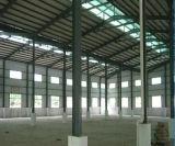 아프리카에 있는 강철 구조물 창고 또는 작업장