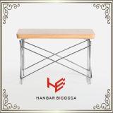 Muebles modernos de los muebles del acero inoxidable del vector de la cara de la mesa de centro del vector de té (RS161002)