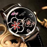 352 het in het groot Mooie Horloge van Vrouwen met de Douane van het Ontwerp van de Bloem Uw Eigen Embleem