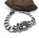 Weinlese-Muster-Mann-Armband-Form-rostfreie Schmucksache-Silber-Farbe