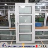Portello di entrata di alluminio di vetro Tempered