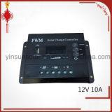 PWM 12V10AのUSBが付いている太陽料金のコントローラ