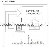 """2.4 """" module de TFT LCD de 240X320 MCU, Ili9341V, 38pin, pour la position, sonnette, médicale"""
