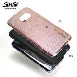 Buen efecto visual de Shs que electrochapa 2 en 1 caja híbrida del teléfono celular para el iPhone 6s