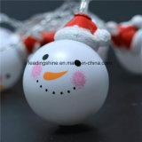 Свет шнура снеговика шарика рождества Fairy - желтый цвет