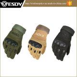Militärjagd Sports taktischer komprimierender Airsoft voller Finger Handschuh-Grün