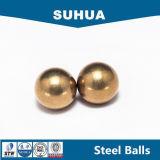 H62 4.3656m m 11/64 '' esfera sólida G200 de la bola de cobre amarillo
