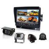 7inch Split Quad moniteur LCD caméra de vision arrière avec caméra étanche IP69k pour bus scolaire