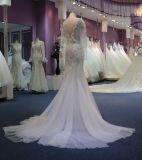 Шикарное платье венчания пляжа шнурка с втулками