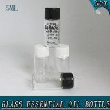 5ml小さいシリンダーゆとりの装飾的な血清ガラスの精油のびん