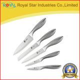 Jeu antiadhésif de couteau de peinture de cuisine réglée de couteau d'acier inoxydable de cuisine de 5 PCS