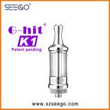 De g-Klap K1 Vape Dildo E Cig van Seego met de Tank van het Glas
