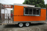 La nourriture mobile multifonctionnelle de la Chine transporte en charrette le camion mobile de nourriture à vendre