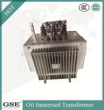 Transformateurs triphasés triphasés de distribution d'huile et d'immersion avec variateur de robinet hors-circuit