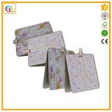 Tarjeta de papel del regalo de encargo de la alta calidad