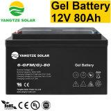batería solar del gel de la luz de calle de 12V 80ah LED
