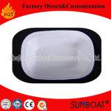 Placa quadrada cerâmica da bandeja do alimento da placa da louça do esmalte de Sunboat (ajustar)