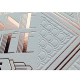 Folha holográfica de alumínio da folha quente da transferência térmica de folha de carimbo no cartão do presente do cartão do presente
