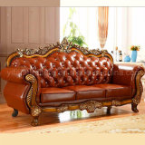 Sofá de cuero clásico para los muebles de la sala de estar