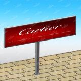 Tabellone per le affissioni d'acciaio esterno di Statioin della pubblicità della via di Unipole della colonna