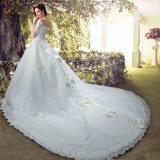 Luxe Sparking Sequins Robe courte Robe de mariée à manches courtes