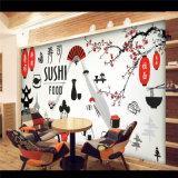 Fabrik-Preis-kundenspezifische bedruckbare Gaststätte-Dekoration-Wandbild-Tapete