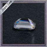 조회 가격 10*14mm 명확한 백색 에메랄드 커트 Moissanite 다이아몬드