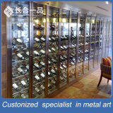 Atacado Customized High-End Rose Gold Wine Cellar Cabinet para Bar / KTV