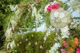 Ombrello bianco ricamato Handmade di legno cinese del merletto di cerimonia nuziale del parasole