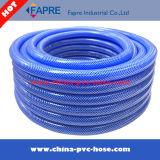 Boyau bleu en plastique flexible de l'eau de jardin de PVC 2017