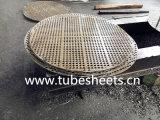 Perçage perforé Baffle Steel, plaque de support pour refroidisseur d'air