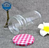 740ml Kruik van het Glas van de Opslag van de Blikken van de Koffie van de Mond van de Rang van het voedsel de Transparante, Cilindrische, Brede