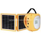 Фонарик фонарика СИД СИД солнечный перезаряжаемые непредвиденный солнечный с заряжателем мобильного телефона