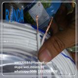 o PVC de 0.5SQMM 0.75SQMM 1SQMM isolou o fio elétrico liso de dois núcleos