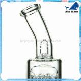 Transparenter doppelter Baum Perc Glaswasser-Rohr