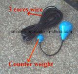 Commutateur de flotteur mécanique électrique de contrôle de niveau de pompe à eau de câble personnalisable