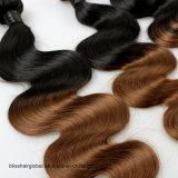 Pelo humano brasileño del pelo el 100% de la dicha del color de tono de la onda dos de la carrocería del pelo de la Virgen