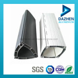 Profil en aluminium personnalisé d'extrusion de porte d'obturateur de roulement de Double couche