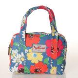파란 방수 PVC 화포 Handbag (99184-2) 꽃 패턴 숙녀