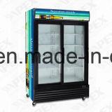 refrigerador do Showcase da porta 1400L dobro em refrigerar de alta velocidade