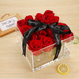 Коробка цветка Duruable высокого качества коробки 16 роз акриловая