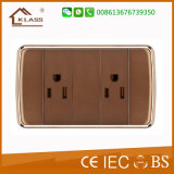 Nouveau design Brown Color 16A Doorbell Switch