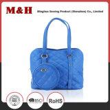 Bolsas azuis portáteis do desenhador da grande capacidade de couro genuíno