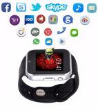 2017 Gw05 Slim Horloge Mtk 6572 SIM GPS van de Camera van de Kaart Androïde 4.4 Bluetooth 3G WiFi Horloge
