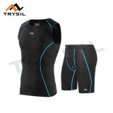 La compressione di riciclaggio di usura mette in mostra le parti superiori ed i pantaloni di forma fisica dei vestiti per i Mens