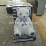 Piccolo Headstone del bambino del libro dell'orsacchiotto del granito