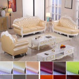 Sofa en cuir en bois pour les meubles de salle de séjour (L929)